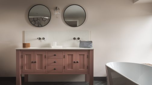 Twin bathroom cabinet