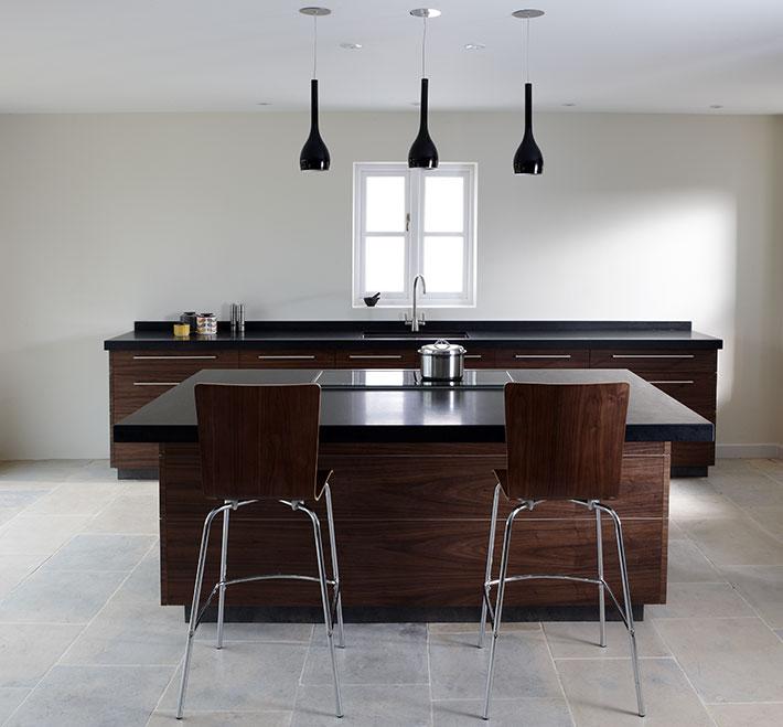 Modern Walnut Kitchen Cabinets: Contemporary Walnut Kitchen